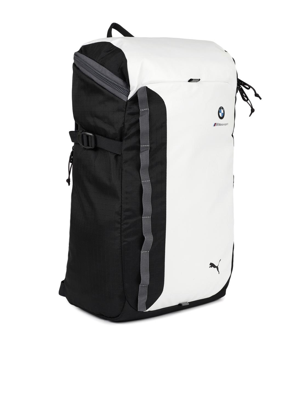 6b26d4dc6f Buy Puma Unisex White   Black BMW M MSP Laptop Backpack - Backpacks ...