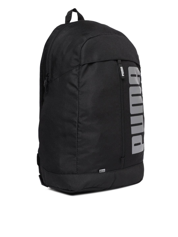 8b08126e1d Buy Puma Unisex Black Pioneer II Brand Logo Laptop Backpack ...