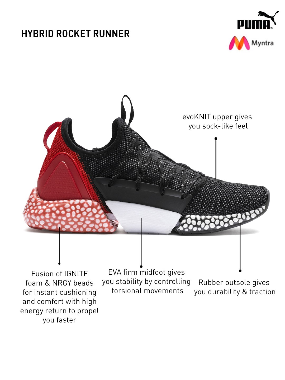 5ed387668e6 Buy Puma Men Black HYBRID ROCKET Running Shoes - Sports Shoes for ...