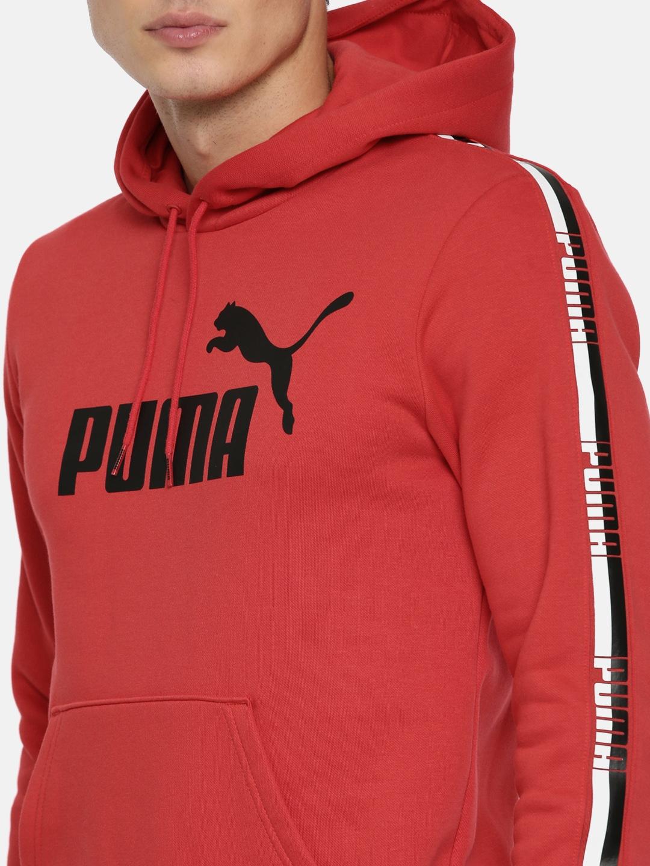 ed00d614a868 Buy Puma Men Red Printed Elevated ESS Tape Hoody Sweatshirt ...