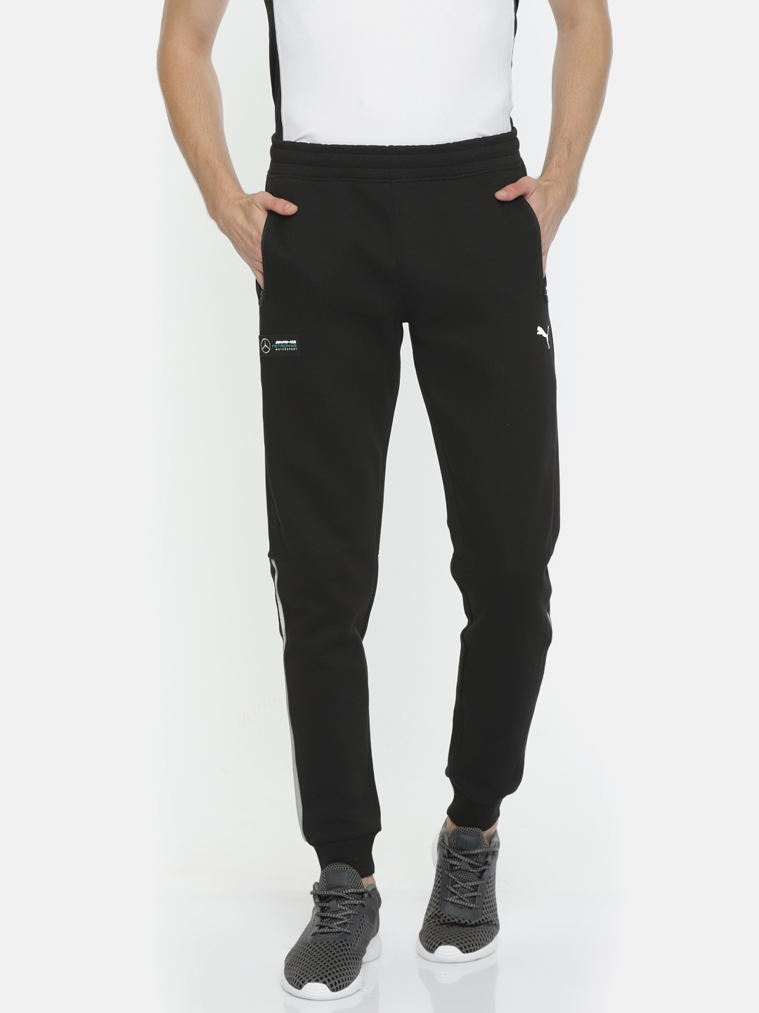 f2b009a363c8 Buy Puma Men Black MAPM Solid Joggers - Track Pants for Men 7033415 ...
