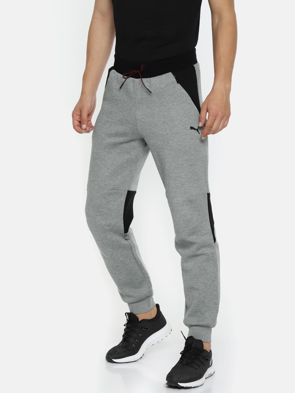 Buy Puma Men Black   Grey Colourblocked Scuderia Ferrari Sweat Pants ... 0fc783669bca9