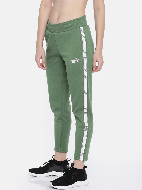 8c4a5f68f454 Buy Puma Women Green Tape Track Pants - Track Pants for Women ...