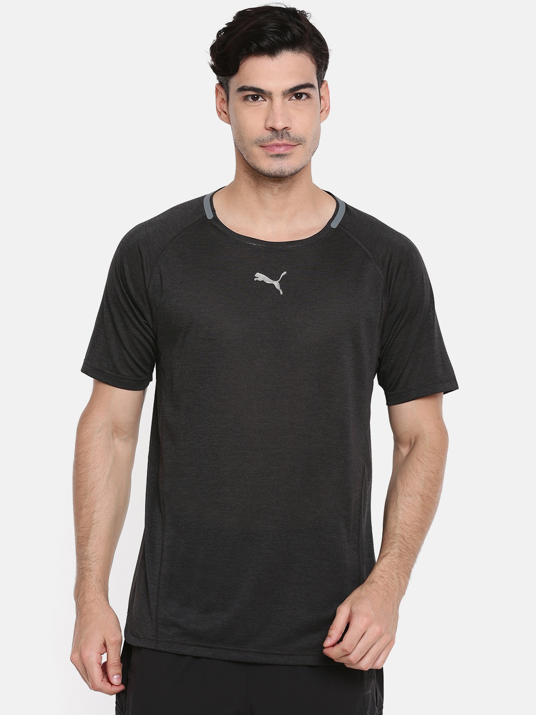 2ae026cf3a5120 Buy Puma Men Black BND Tech SS Solid Round Neck T Shirt - Tshirts ...