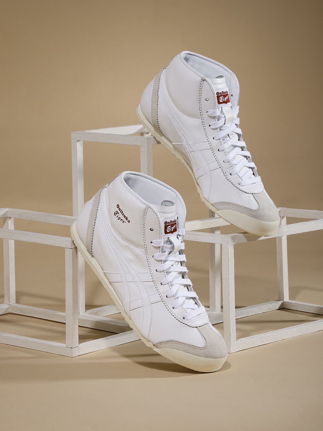 the latest cbeff 5b647 Onitsuka Tiger Mexico Mid Runner Unisex White Mid-Top Sneakers