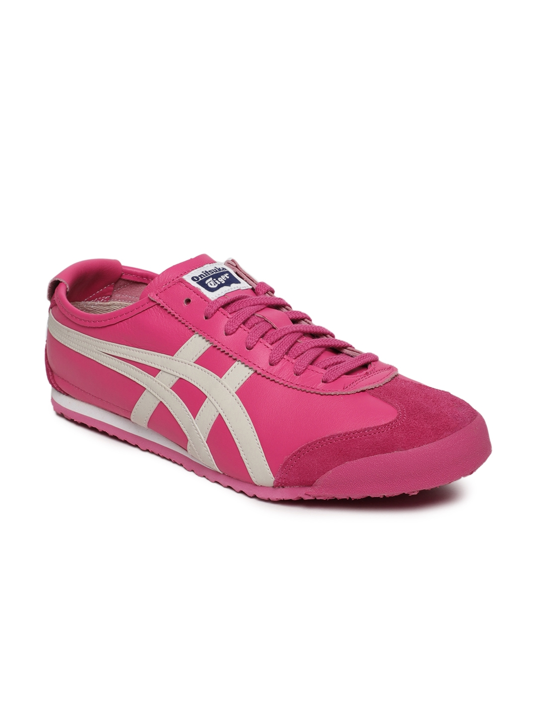 Buy Onitsuka Tiger Unisex Pink Leather Mexico 66 Sneakers - Casual ... ec32ef8af854