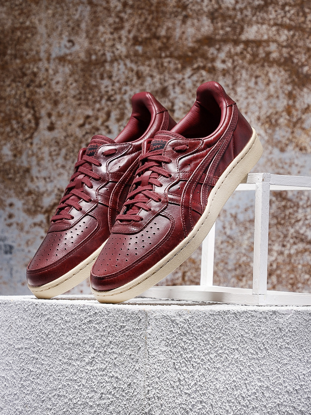 Buy Onitsuka Tiger Unisex GSM Burgundy Sneakers - Casual Shoes for ... 09433b78e