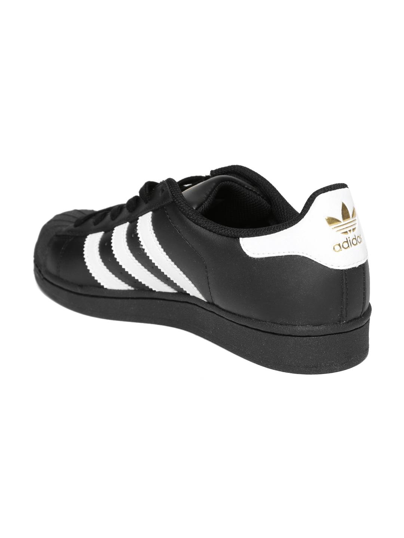 buy popular a4d23 e6794 Adidas Originals Men Black Superstar Foundation Leather Sneakers