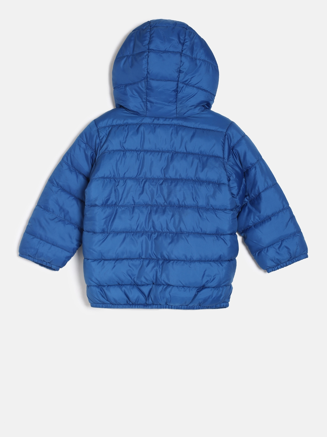 761dde4a5 Buy The Childrens Place Boys Blue Solid Windcheater Puffer Jacket ...