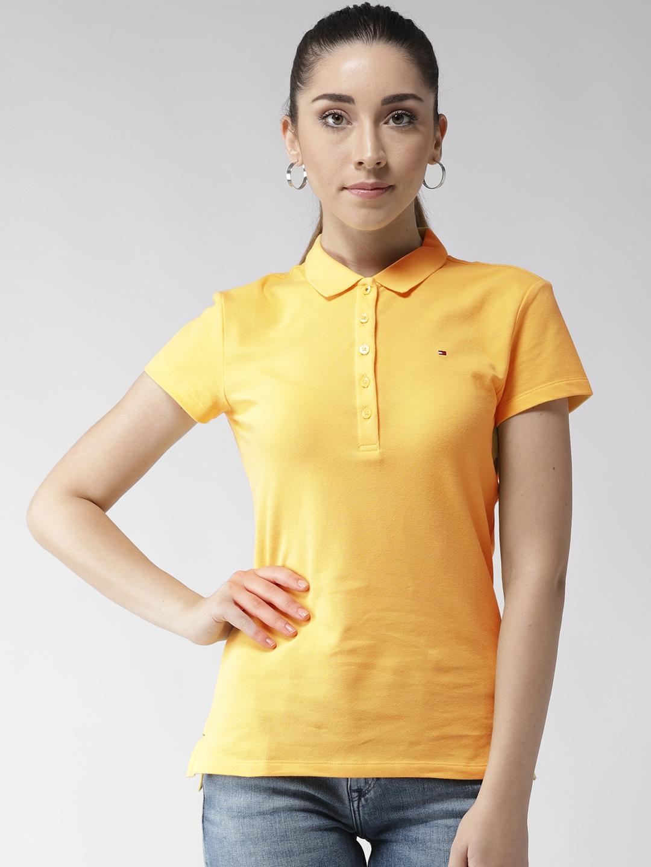yellow polo shirt women