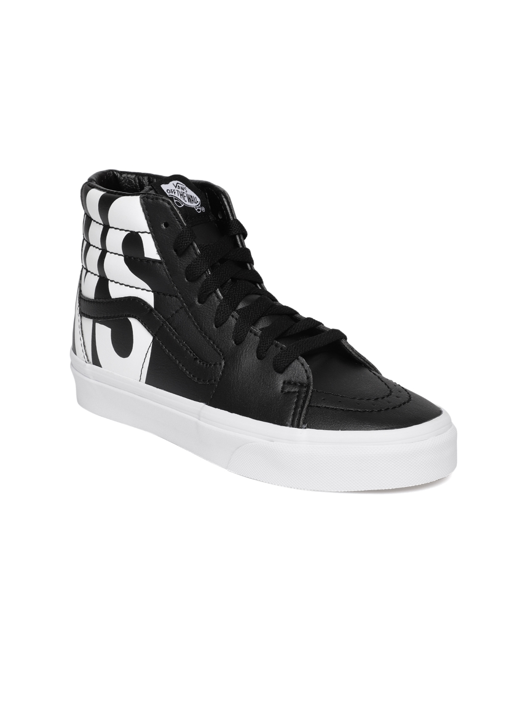56884b49af Buy Vans Unisex Black SK8 Hi Solid Synthetic High Top Sneakers ...