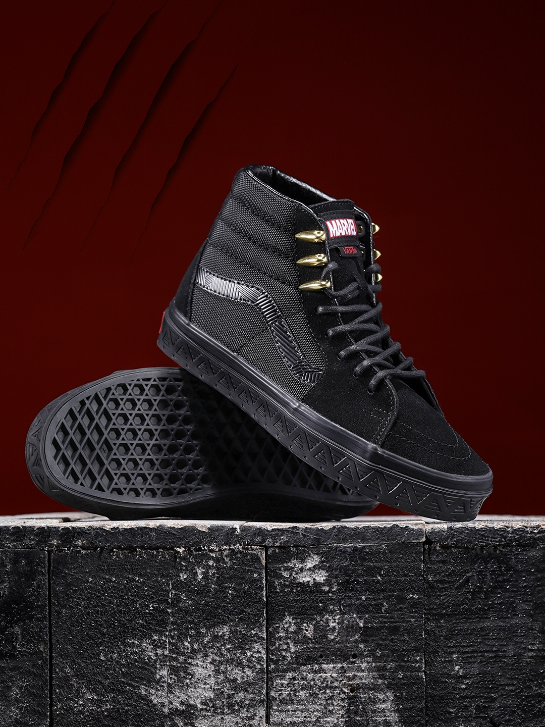 ec8035e1e4 Buy Vans Unisex Marvel Black Panther Mid Top Sneakers - Casual Shoes ...