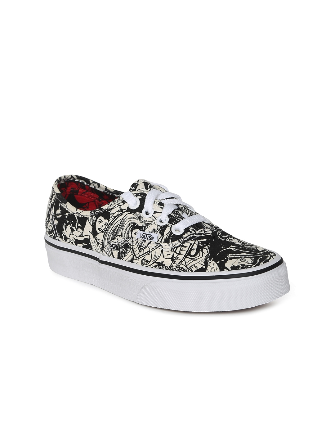 7654090c5a3 Buy Vans Women White   Black Authentic Sneakers - Casual Shoes for ...