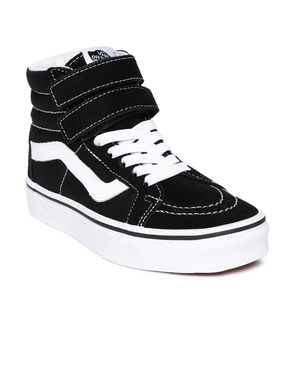 b177c76c3a8 Vans Unisex Black Solid Textile SK8-Hi Reissue V Mid-Top Sneakers