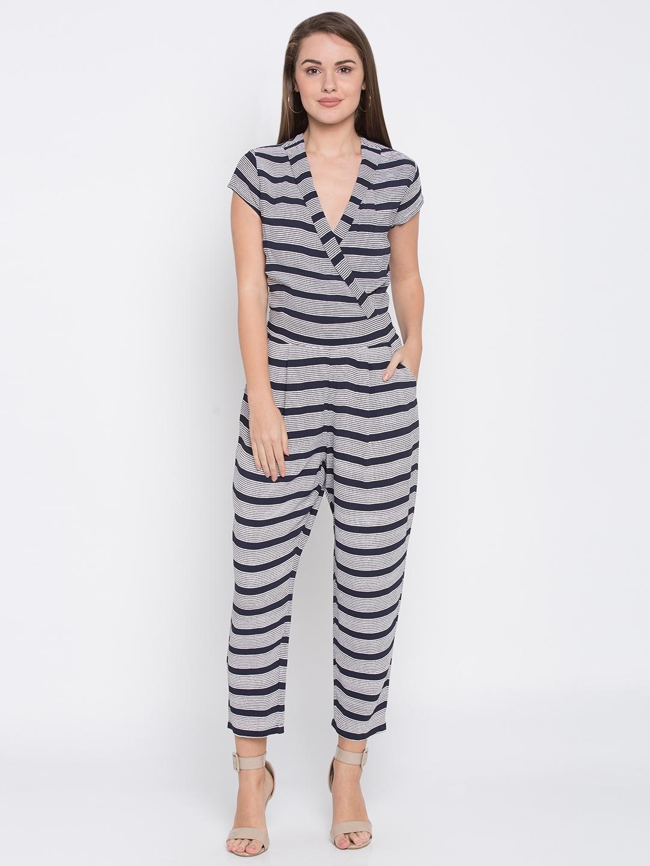 3e1332c09d2 Buy Globus Navy Blue   White Striped Basic Jumpsuit - Jumpsuit for ...