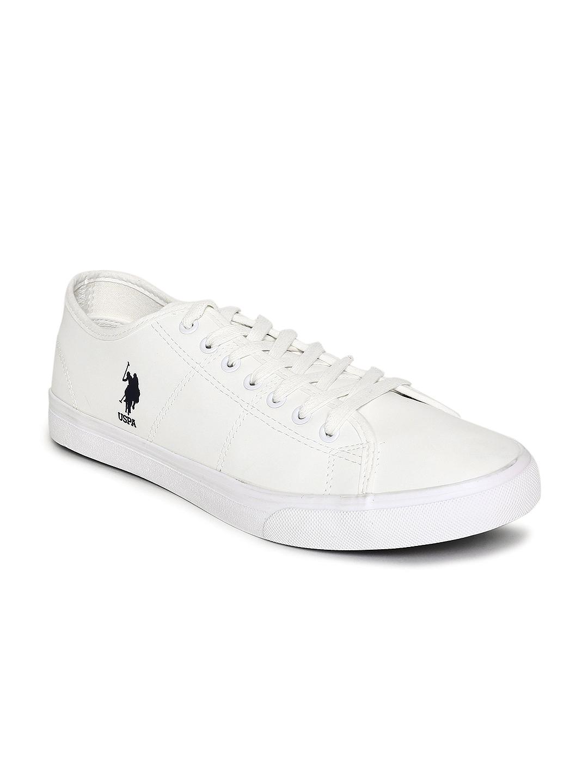 U.S. Polo Assn. Men Off-White Sneakers