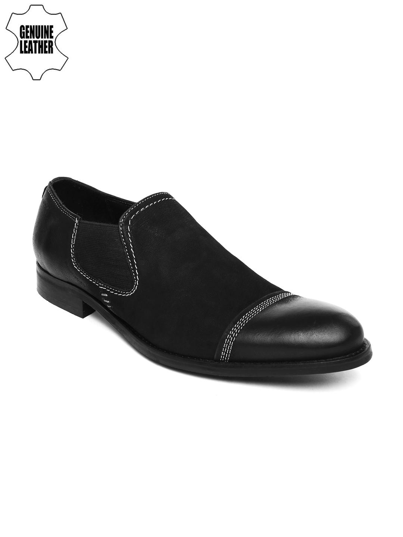 Buy Ruosh Occassion Men Black Leather
