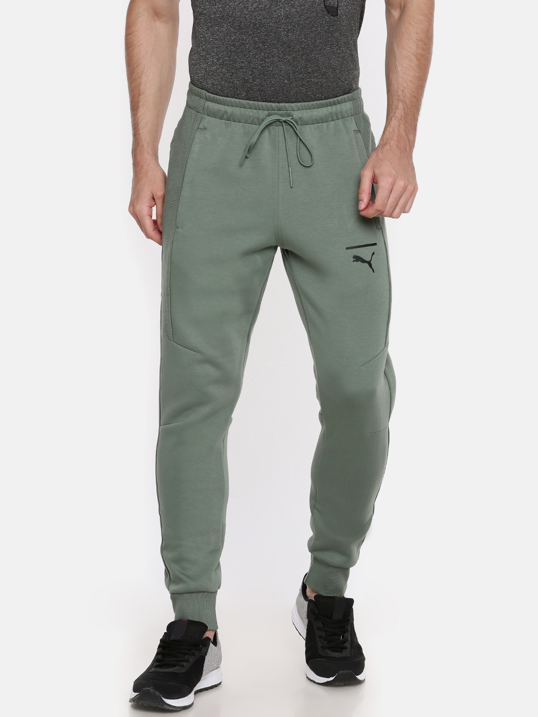 4be9a82d6934 Buy Puma Green Pace Slim Fit Joggers - Track Pants for Men 7072761 ...