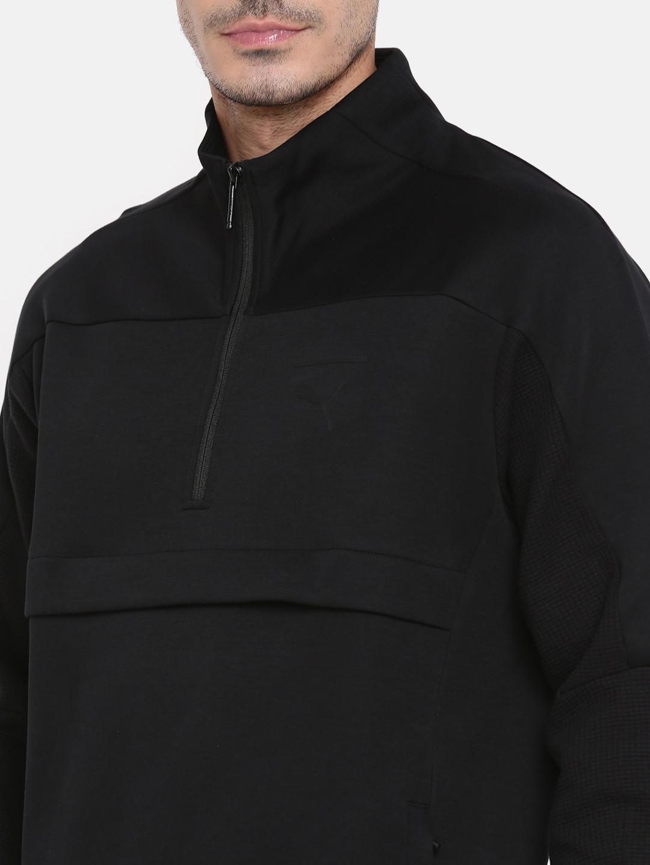 c02af3966e93 Buy Puma Men Black Pace Savannah Solid Sweatshirt - Sweatshirts for ...