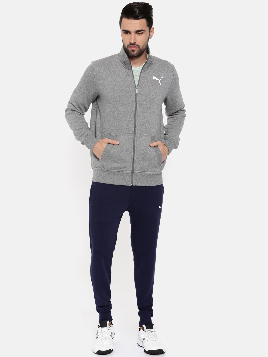624d5e5fd467 Buy Puma Men Grey   Blue Style Good Sweat Tracksuit - Tracksuits for ...