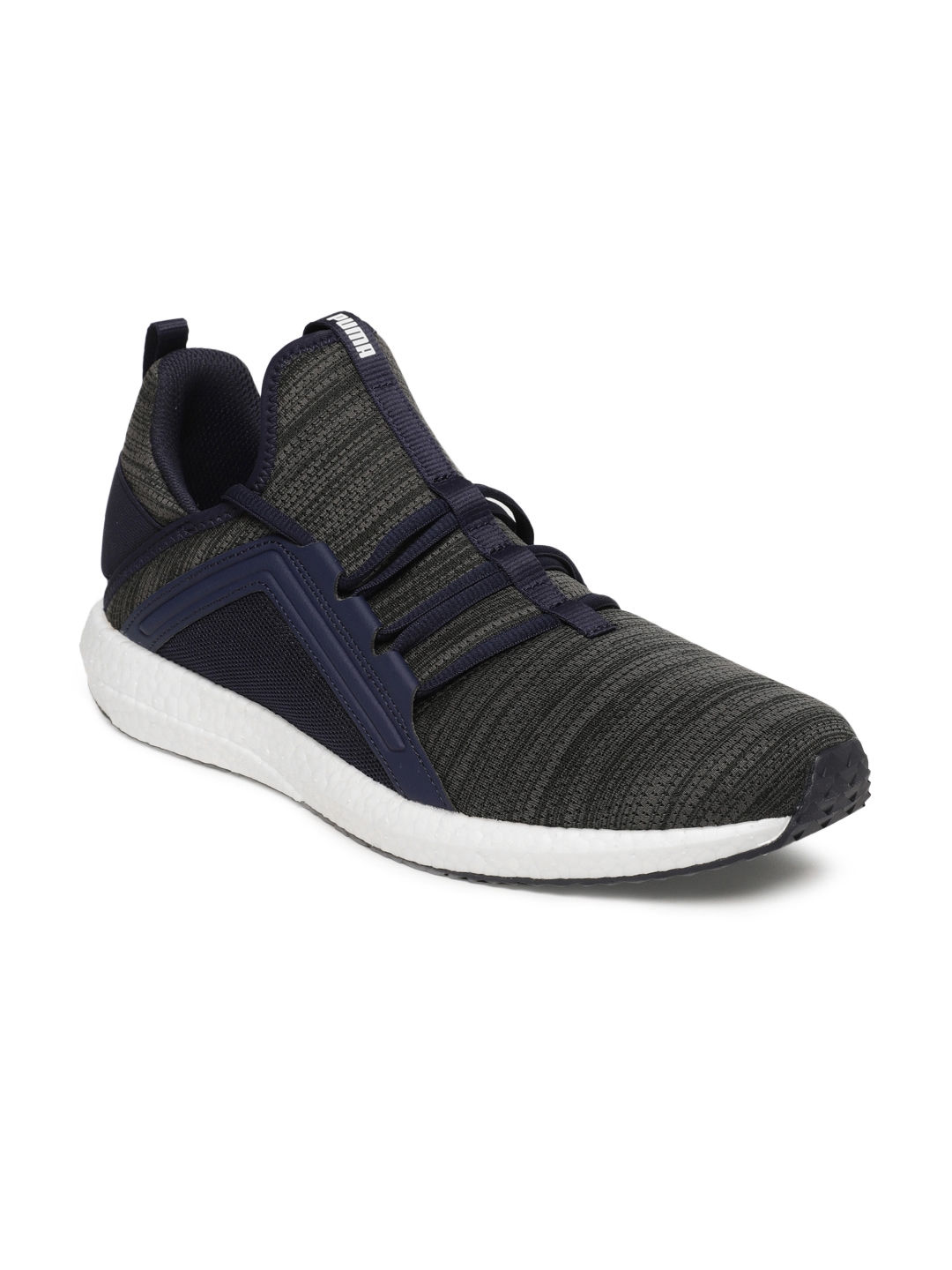 ae8ab8e31edf Buy Puma Men Navy Blue Mega NRGY Heather Knit Running Shoes - Sports ...