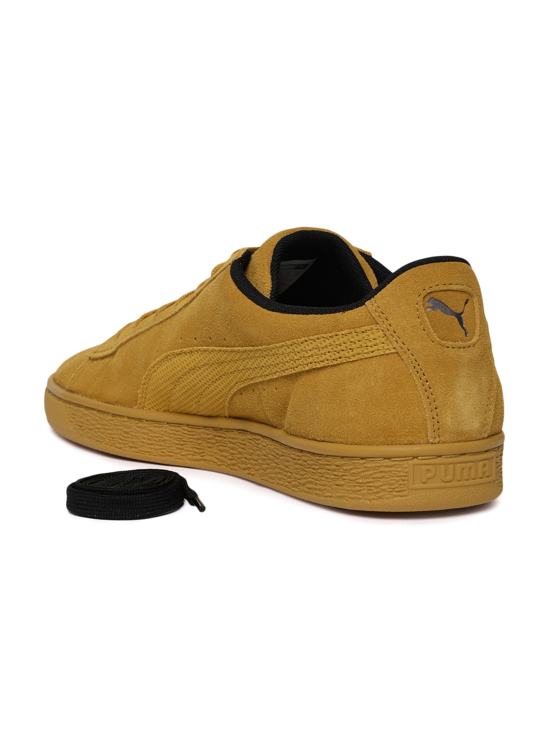 1c5aecdf972e Buy Puma Men Mustard Brown Suede Classic Tonal Nu Skool Sneakers ...