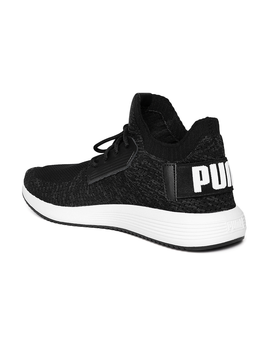 Buy Puma Men Black Uprise Knit Mid Top Sneakers - Casual Shoes for ... 45bf42805