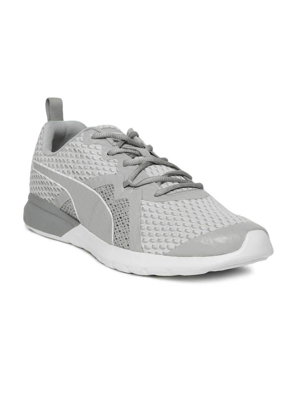 77c6a87b438f Buy Puma Men Off White   Grey Vigor X IDP Running Shoes - Sports ...