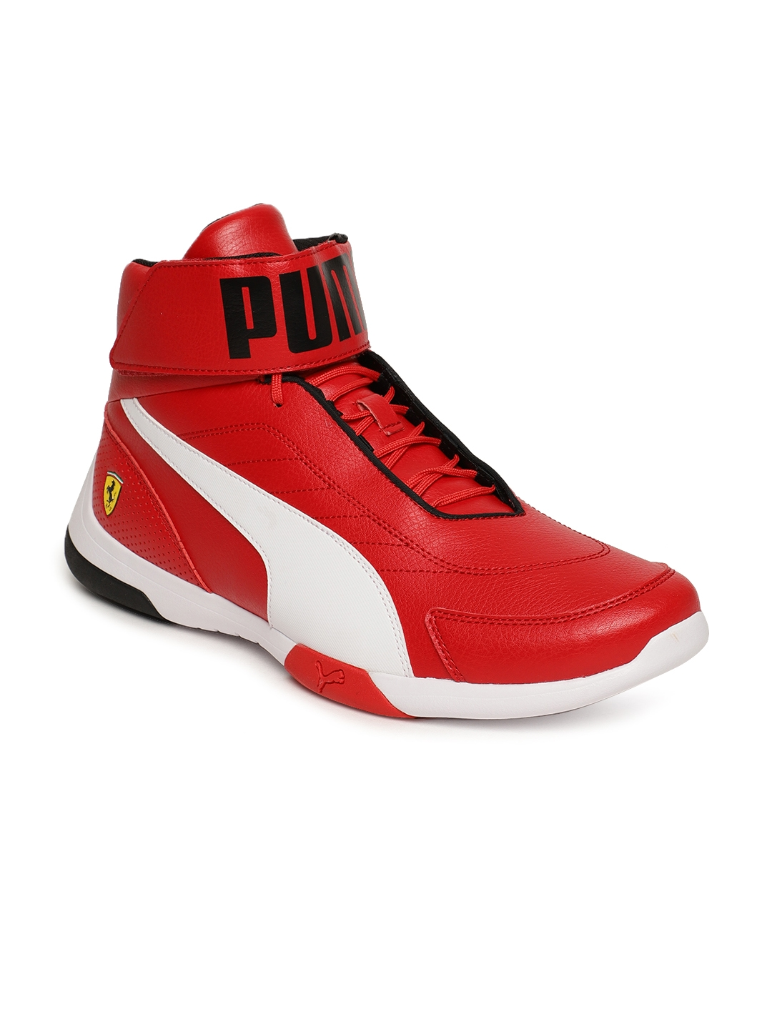 tout neuf d5841 7e352 Puma Men Red Textured SF Kart Cat Mid III Mid-Top Sneakers