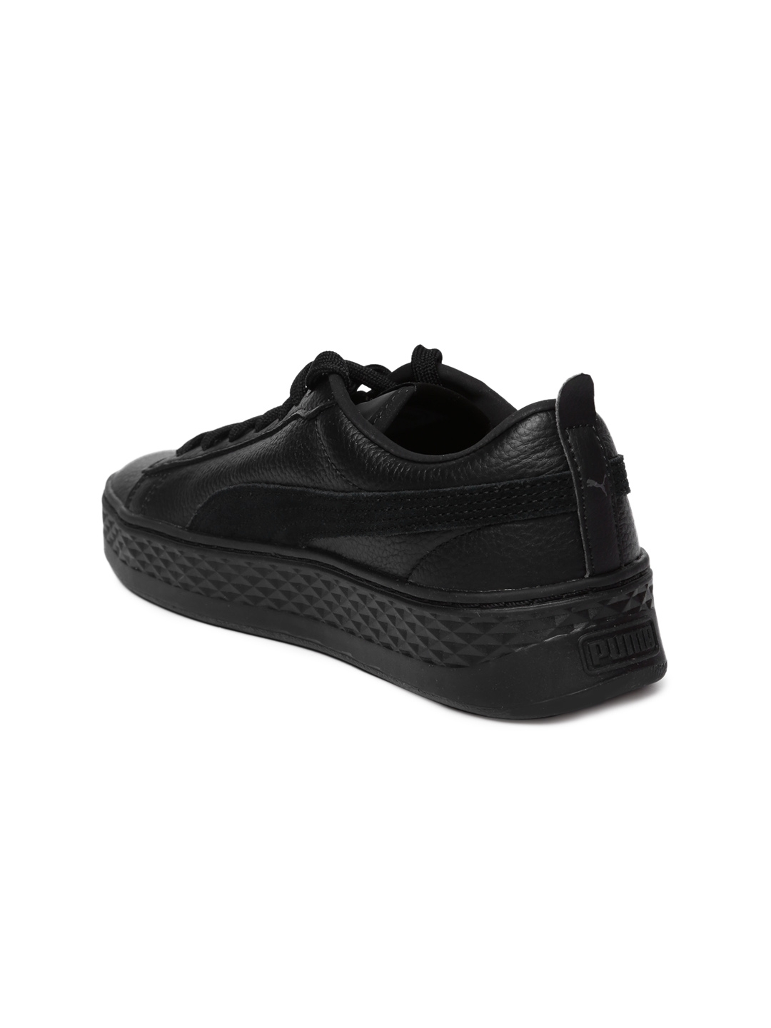 1d552d2d76f564 Buy Puma Women Black Smash Platform Leather Sneakers - Casual Shoes ...