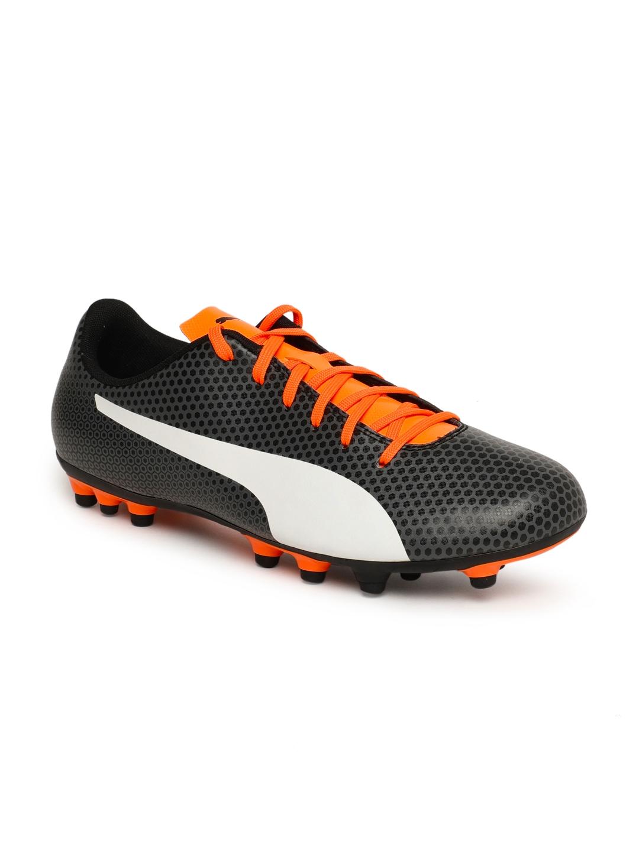 d5b96c9ec6e64c Buy Puma Men Black   Orange PUMA Spirit AG Football Shoes - Sports ...