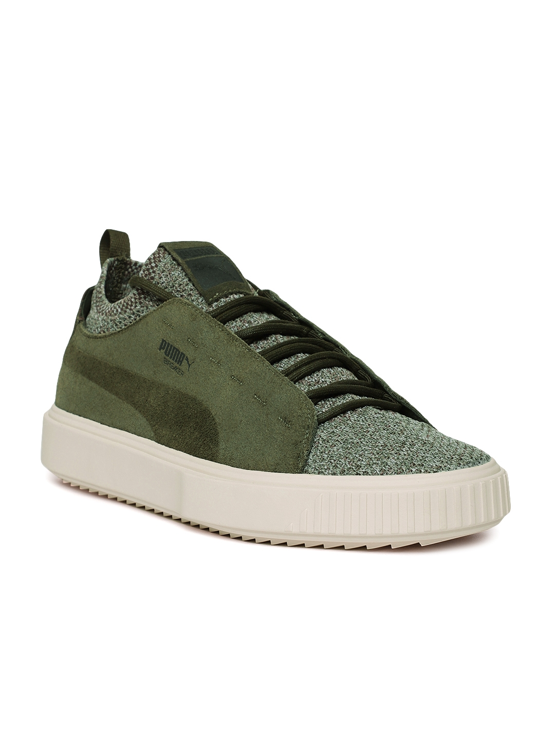 5ff7e85a8ca70b Buy Puma Men Green Breaker Knit Baroque Sneakers - Casual Shoes for ...