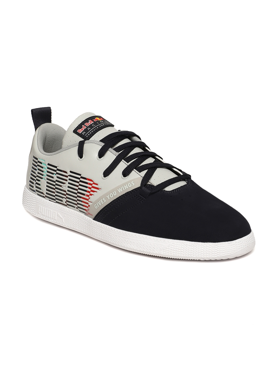 innovative design b9e89 e4c8e Puma Men Navy Blue & Grey RBR Cups Lo Suede Sneakers