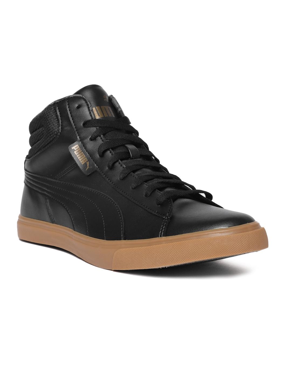 833557a981ba Buy Puma Men Black Solid Grip Mid Top IDP Sneakers - Casual Shoes ...