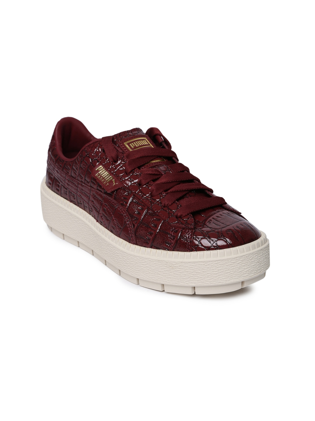 adc36214c36dbd Buy Puma Women Maroon Platform Trace Exotic Lux Sneakers - Casual ...