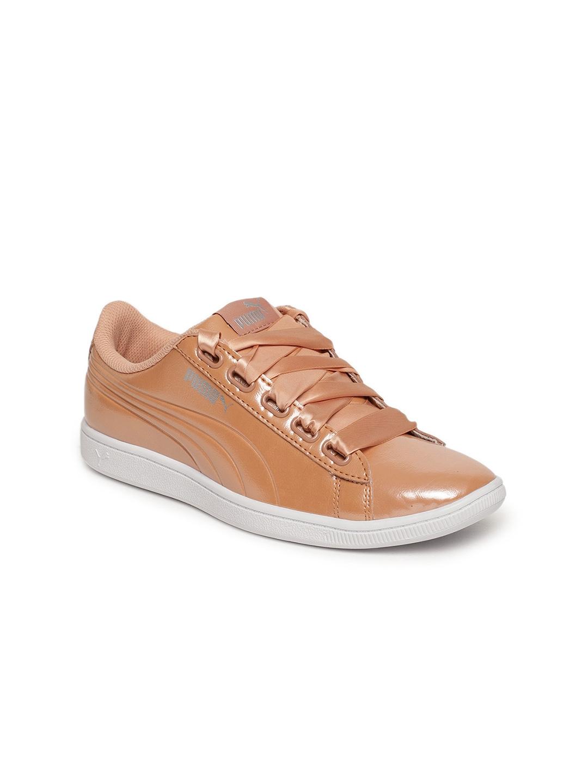 Puma Women Peach Coloured Vikky Ribbon P Casual Shoes