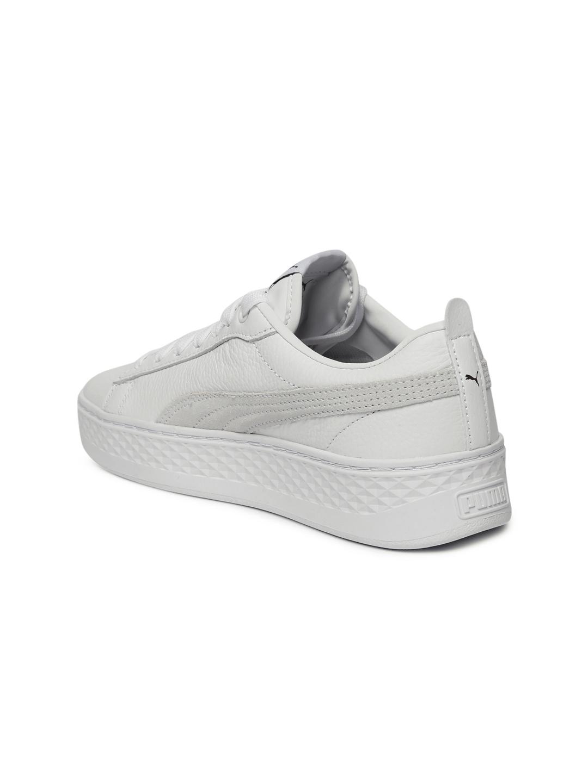 98e9aef9f2c Buy Puma Women White Smash Platform Sneakers - Casual Shoes for ...
