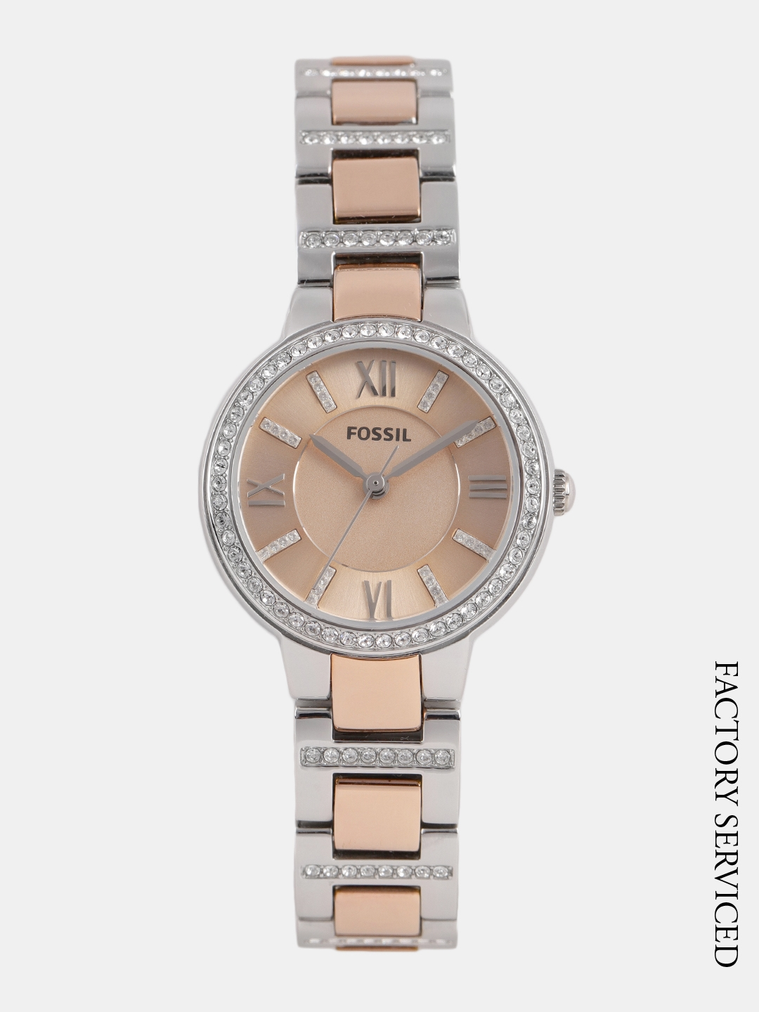 94420269e2532 Fossil Women Rose Gold-Toned Analogue Watch ES3405 Factory Serviced