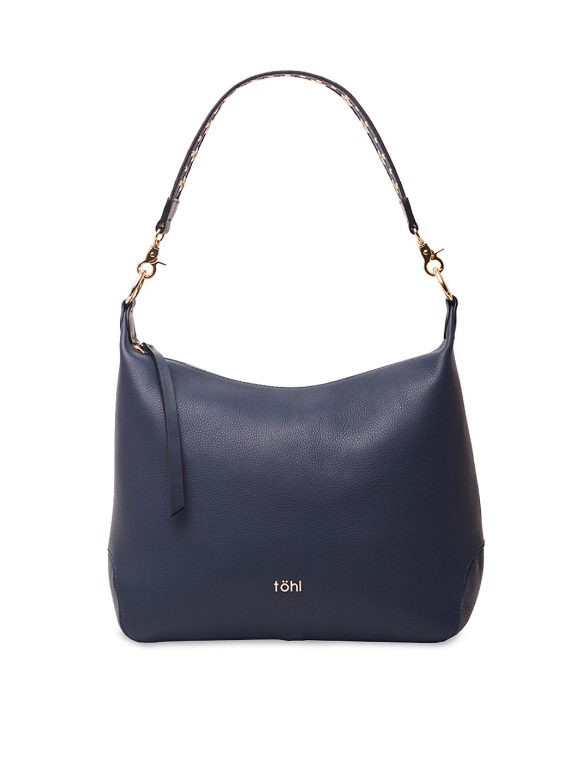 Buy Tohl Navy Blue Solid Leather Hobo Bag - Handbags for Women ... 2de5a9b20a06e