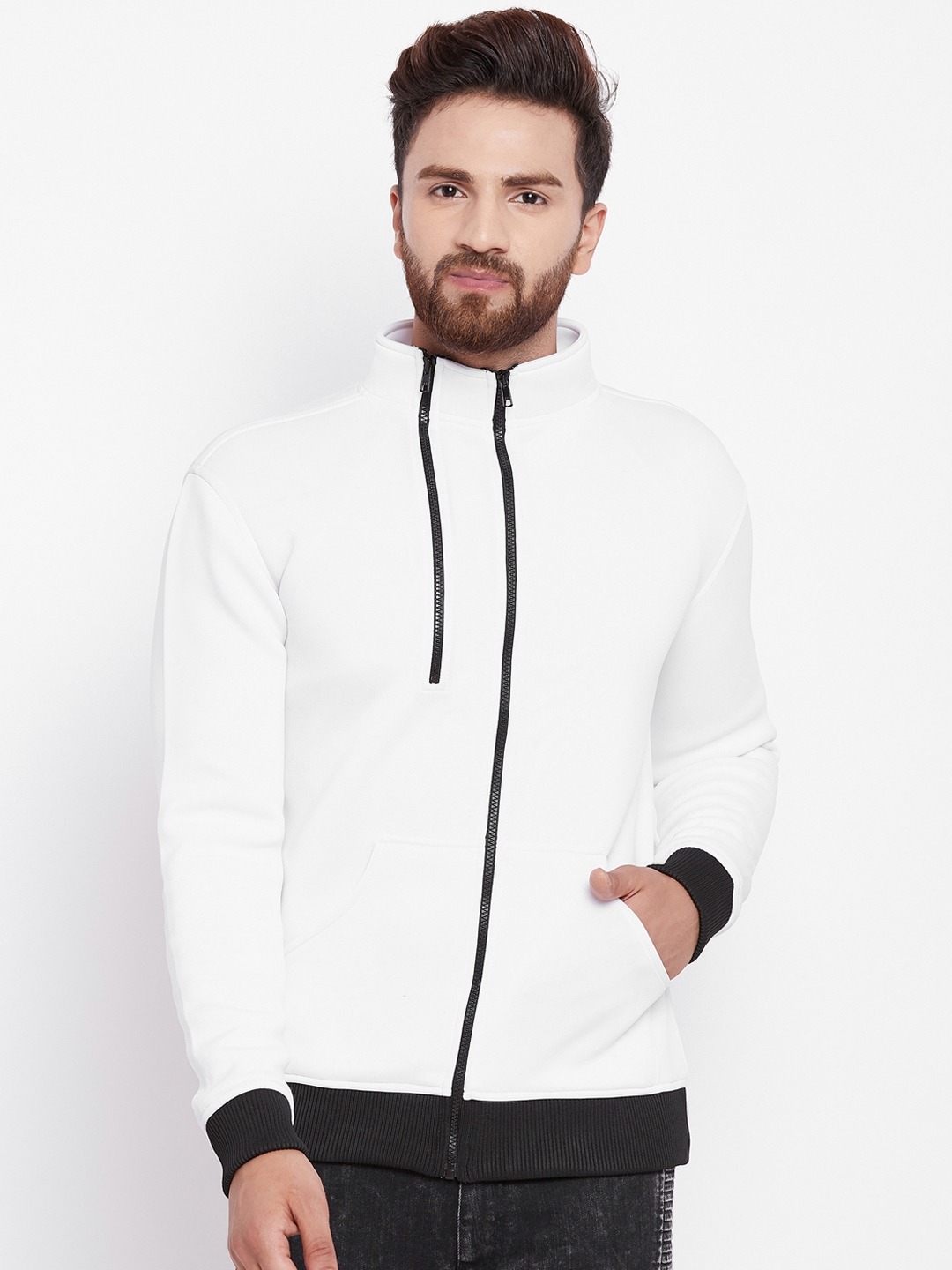 a4d7dc432e1d Buy FUGAZEE Men White Solid Water Resistant Bomber Jacket - Jackets ...