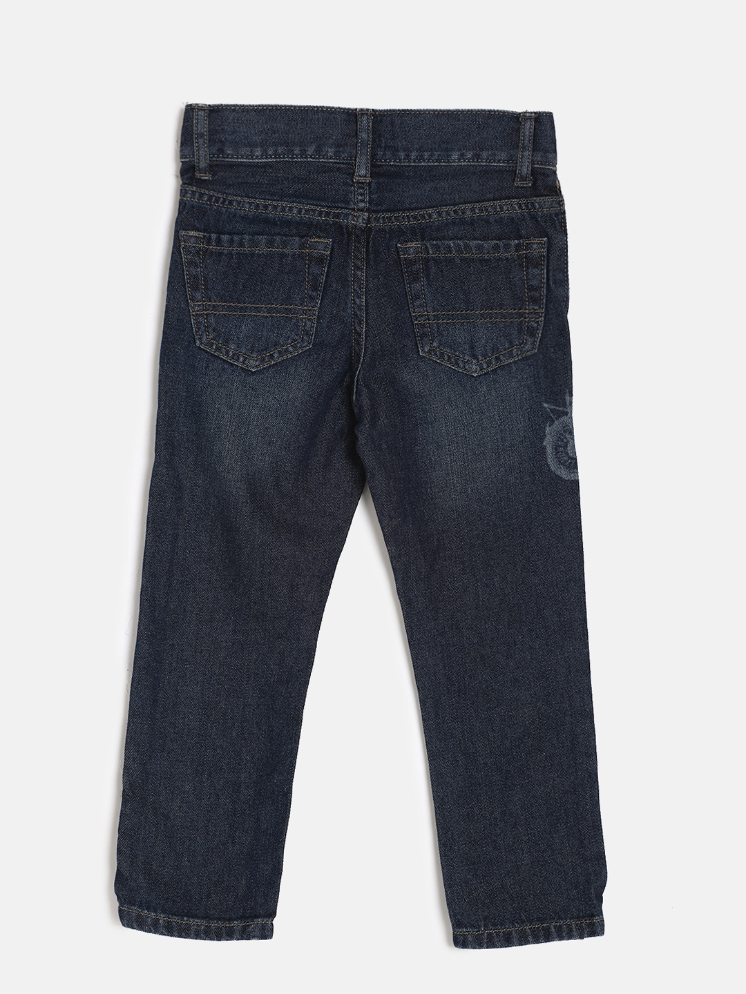 6f666e5fdc137 The Childrens Place Boys Blue MOTORCYCLE Skinny Fit Mid-Rise Clean Look  Jeans