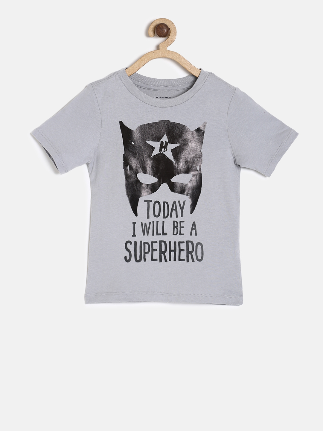 549ac8f6 Buy The Childrens Place Boys Grey Printed Round Neck T Shirt ...