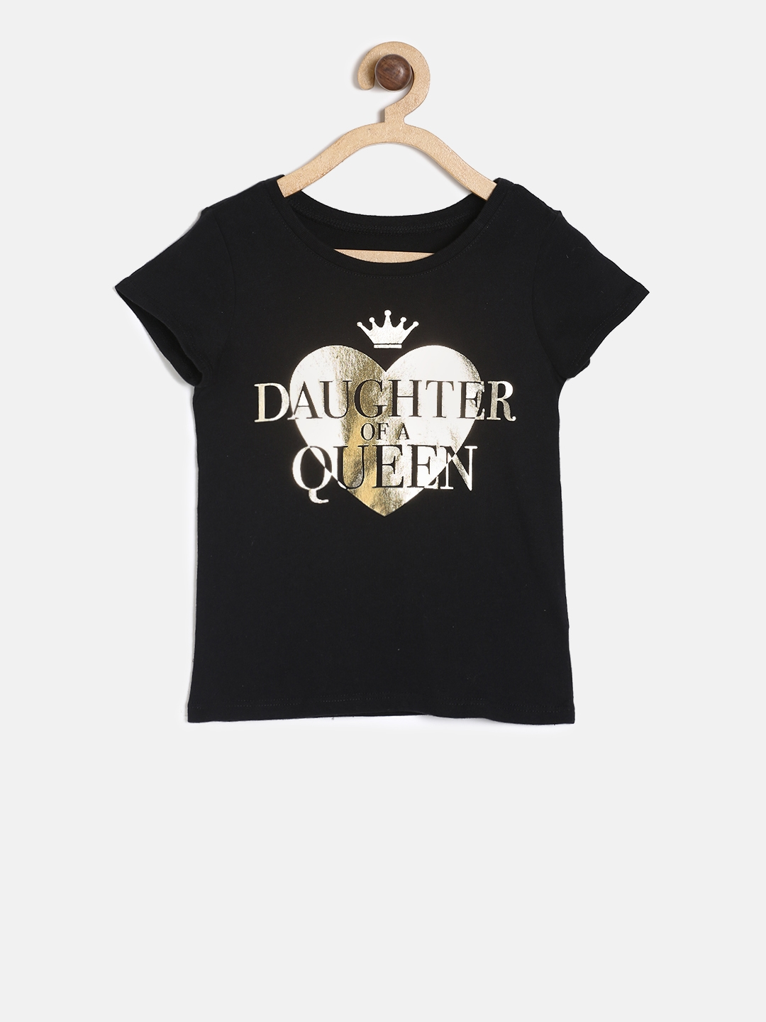 c2fe6e66 Buy The Childrens Place Girls Black Printed Round Neck T Shirt ...