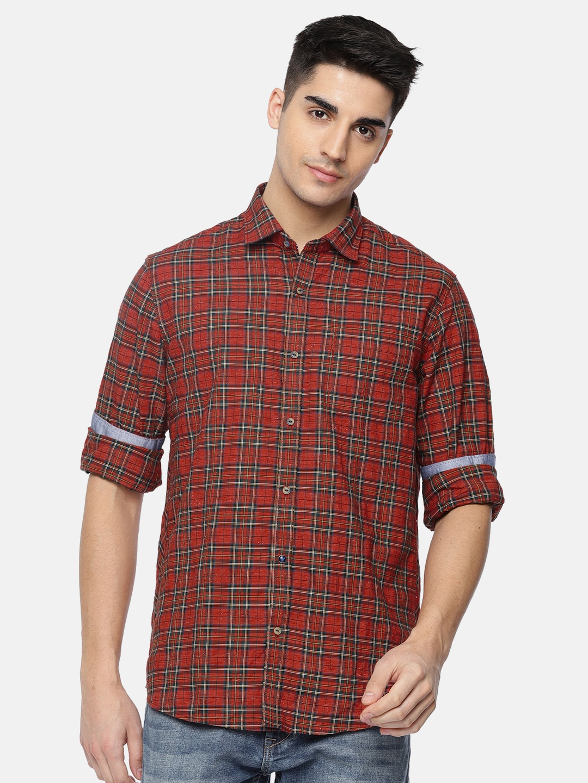 fae89587e Mens Red And Green Tartan Shirt