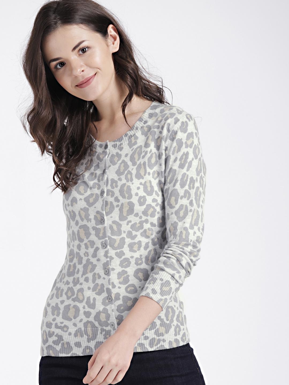 Buy GAP Women s Slim Cheetah Print Crewneck Cardigan Sweater ... d249fb808e