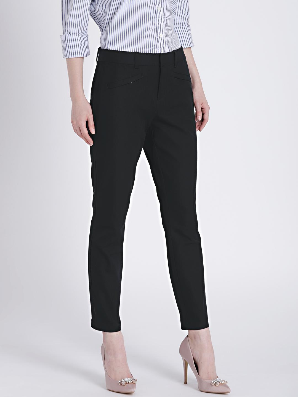 d0f531789795e Buy GAP Women s Black Bi Stretch Skinny Ankle Pants - Trousers for ...