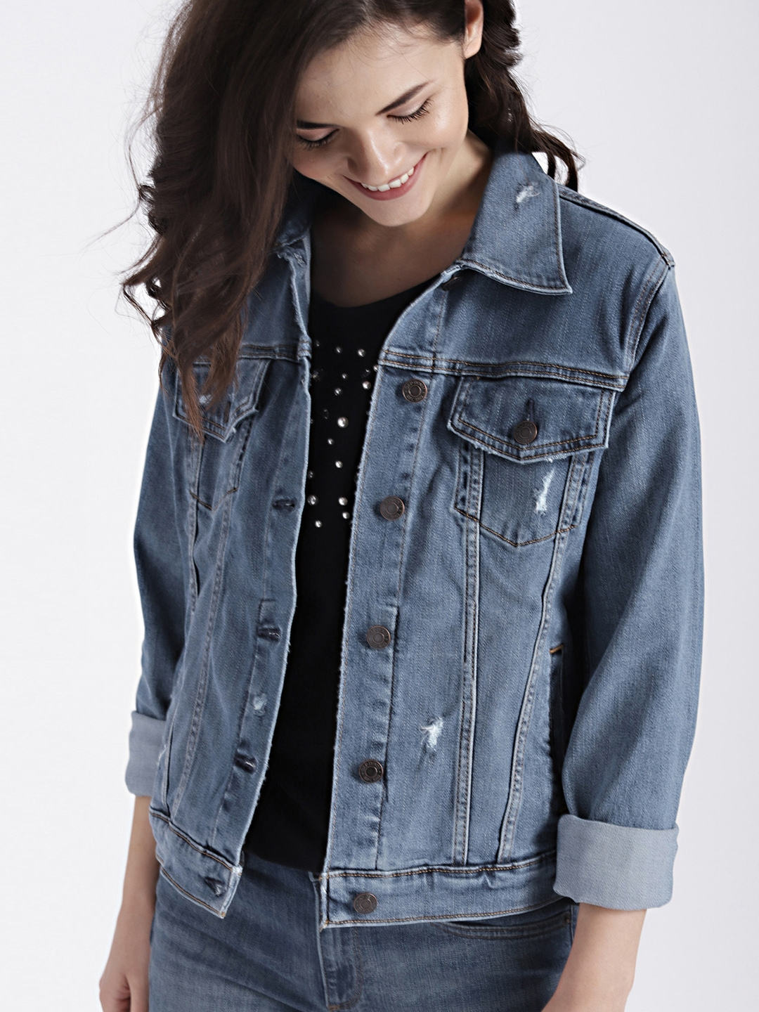 special price for usa cheap sale online here GAP Women's Blue Soft Wear Icon Denim Jacket