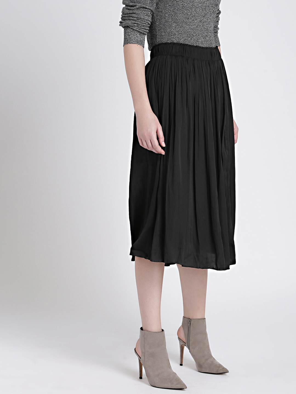 789b954fa0ea Buy GAP Women's Black Pleated Midi Skirt - Skirts for Women 7088556 ...