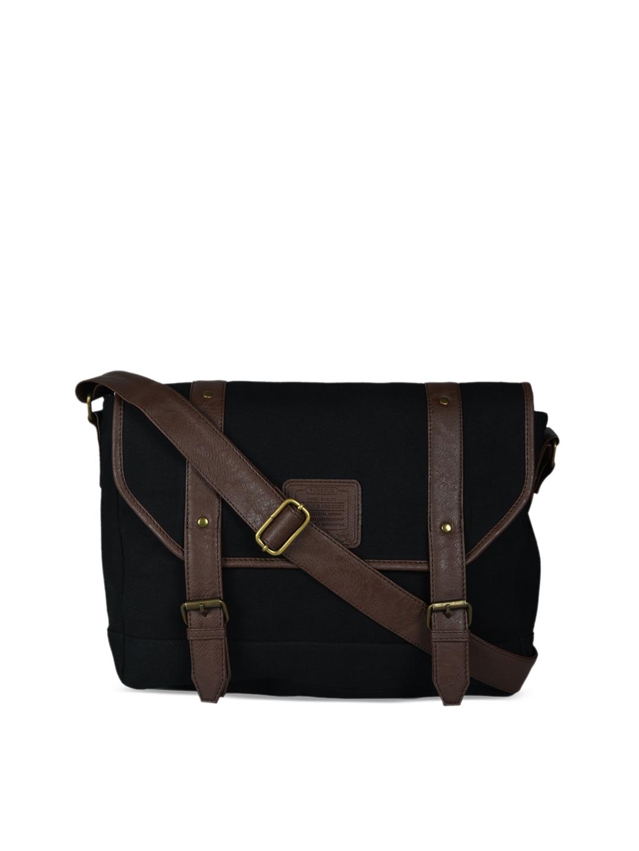 982a8f1c18ce Buy Purseus Men Black   Brown Solid Messenger Bag - Messenger Bag ...