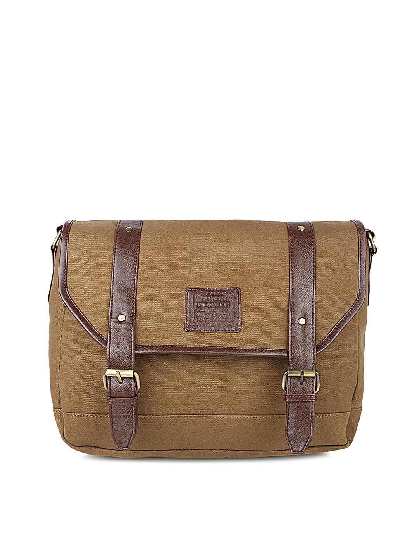 90b18885501a Buy Purseus Men Brown Solid Messenger Bag - Messenger Bag for Men ...